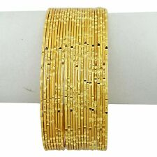 Indian Traditional Bollywood Gold Plated Bangles Set Jewelry Gift For Women 2*6