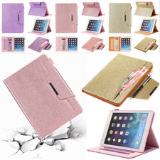 For iPad 9.7  Air Pro MIni Smart PU Leather Card Slots Stand Case Cover Holder