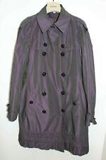 Burberry London Women's Double Breasted Iridescent Purple Rain Coat US 10 UK12