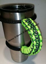 Paracord Handle for 40oz, 30oz, or 20ozYeti Ozark & Aritic Neon Green Pattern