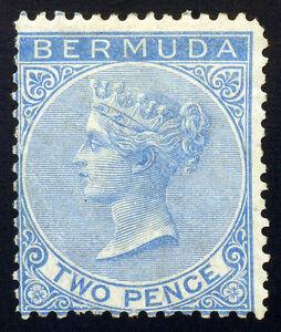 Bermuda. 2d Blue 1866 SC# 2 SG# 3, Wmk Crown CC, Mint NG Hinge