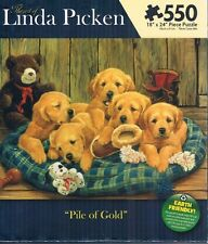 "Linda Picken "" Pile of Gold"" 550 piece 18""x 24"" jigsaw puzzle Karmin 2011"