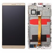 Gold For Huawei Mate 8 LCD Display Touch Screen Digitizer Assembly Replace Frame