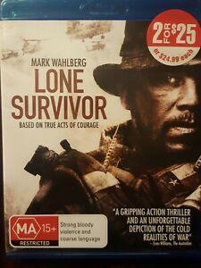 LONE SURVIVOR - Mark Wahlberg -( BLU-RAY DVD) AUST REGION   VGC