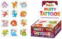 72 Dinosaur Tattoos - 6 Packs Of 12 - Loot Party Bag Fillers Kids Temporary
