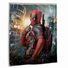 Deadpool Avengers Waterproof Shower Curtain Bath Room Wall Hangings With Hooks