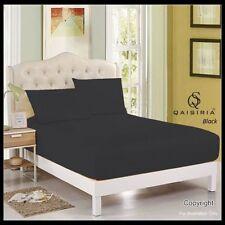 Draps-housses noires pour le lit Chambre en 100% coton