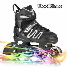Woolitime Sports Adjustable Inline Skates for Kids with 8 Illuminating Wheels, S
