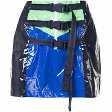 Puma X Rihanna Fenty Womens Belted Mini Skirt PVC Blue 577329 01 A82E