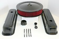 Pontiac Black Engine Dress Up Kit Tall Valve Covers Washable Air Cleaner 350 455