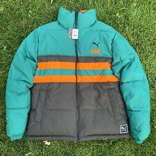 Puma x Helly Hansen HH Reversible Black Orange Teal Green Jacket Men Size Large