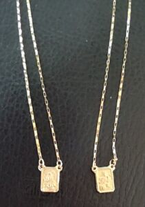 18k Gold Scapular Catholic Double Sided 2,9 grams Solid Gold Not plated