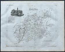 Basses Alpes - 1830 - Carte du département - Atlas Michel, Lorrain - Gravure