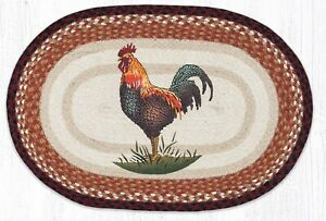 Rustic Rooster 20 x 30 Oval Rug by Earth Rugs
