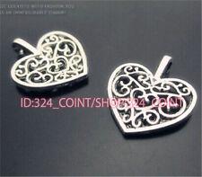 P322 20pc Tibetan Silver heart Charm Beads Pendant accessories wholesale
