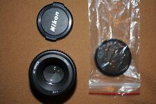 Nikon Nikkor AF 50mm f/1.8 with front/rear caps