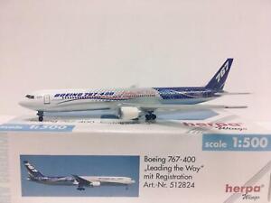 """Herpa Wings Boeing 767-400 """"Leading the Way"""" 1:500 N76400 512824"""