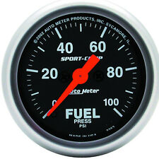 Autometer 3363 Sport-Comp Fuel pressure Gauge  2-1/16 in., Electrical