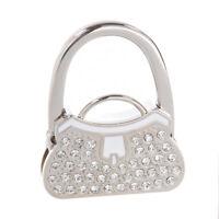 Metal RhInestone Folding Handbag Purse Table Hook Hanger Holder SS