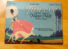 Vintage 1921 TUWEVE Hair Net Real Hair Seligman Co NY Fashion New Old Stock