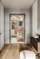 US-3D Shelf Cabinet Self-adhesive Living Room Door Murals Wall Sticker Wallpaper
