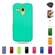 For Motorola Moto G LTE (1st Gen) Hard Rubberized Plastic Matte Cover Case