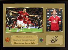 NUOVO ZLATAN IBRAHIMOVIC Firmato Autografato Manchester United FC incorniciato 004