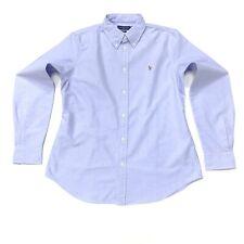 Ralph Lauren Women's Slim Fit Oxford Shirt In Light Blue Size L