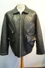 FANTASTIC VINTAGE 80's AVIREX LEATHER HIGHWAYMAN STYLE MOTORCYCLE JACKET SIZE L