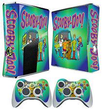 XBOX 360 SLIM STICKER Scooby Do Mystery Machine Daphne Fred SKIN & 2 X PAD SKIN
