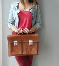 True Vintage braune Herren Leder AKTENTASCHE 60er Laptoptasche briefcase 60s