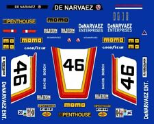 #46 De Narvaez Porsche 935 1981 1/64th HO Scale Slot Car Decals