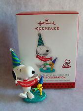 "New Hallmark Peanut Gang Snoopy and Woodstock New Year Celebration 3"" Ornament"