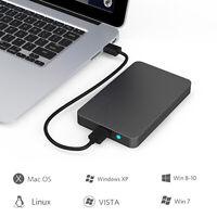 "USB 3.0 2.5"" 6TB SSD HD Hard Drive Disk SATA External Enclosure Case Cover Box"