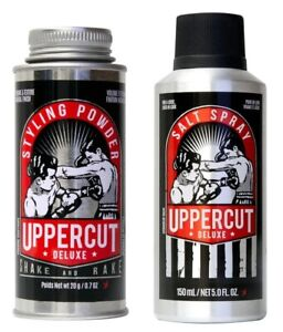 Uppercut Deluxe Sea Salt Spray and Styling Powder Hair Styling Products For Men