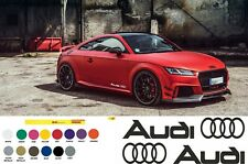 AUDI LOGO Vinyl Decal sticker Sport Racing emblem Sticker TT RS left and ride