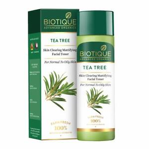 Tea Tree Skin Mattifying FaceToner (120ml) From Biotique For Normal to Oily Skin