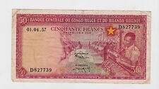 Congo Belge and Ruanda-Urundi - 50 Francs, 1957  CRISP !!