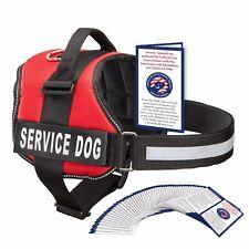 SERVICE DOG VEST HARNESS W/ 50 FOLDED ADA CARDS, Red, Pink, Black - XXS - XXL