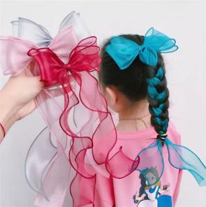 Baby Girls Kids Ribbon Bow Princess Chiffon Hair Ribbon Party Princess Bow xmas