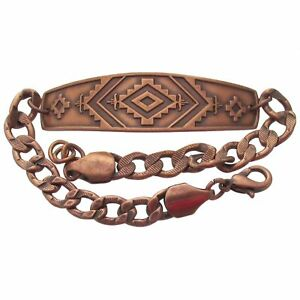 Solid Copper Bracelet Southwestern Unique Handmade Western Jewelry Southwest New