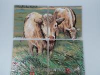 Ceramic Wall Tiles  4 Tile Make Cow Montage