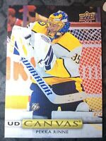 UPPER DECK 2019-2020 SERIES ONE PEKKA RINNE CANVAS HOCKEY CARD C-64