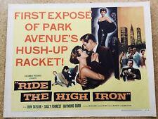 Ride the High Iron Half Sheet Movie Poster - Midcentury Romantic Crime Melodrama
