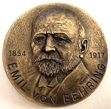 1901 Nobel Prize Medicine Physiologist Emil Von Behring Bronze Medal 80 mm N124