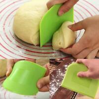2Pcs Plastic Dough Scraper Butter Cream Smooth Cake Spatula Baking Pastry