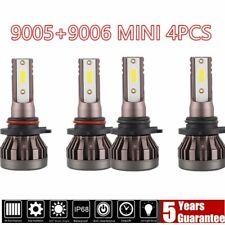 Mini 9005 + 9006 Combo LED Headlight Kit 3400W 520000LM Hi/Lo Beam Bulbs 6000K