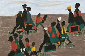 Jacob Lawrence Poster Reproduction Paintings Giclee Canvas Print