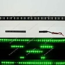 Green 1FT 12' 30CM 32 Led Knight Rider Strobe Scanner Flexible Strip Light M008