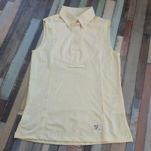 "Aubrion  Sleeveless Tie Show Shirt UK 8 10 34"" XS yellow ."